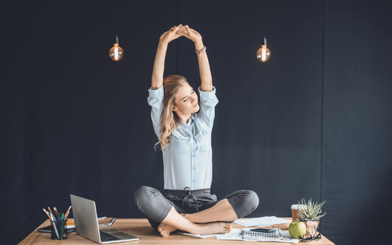 yoga work from home wellbeing